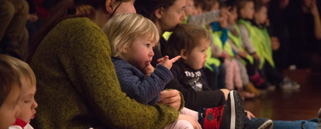 Children watching a theatre show
