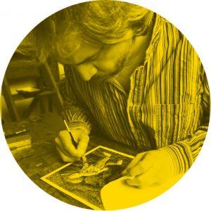 Fabian Negrin portrait, illustrator, Mapping project