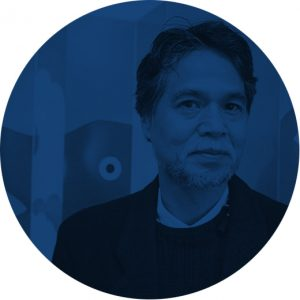 Katsumi Komagata portrait, illustrator, Mapping project